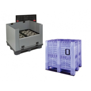 Pallet boxes and pallet containers